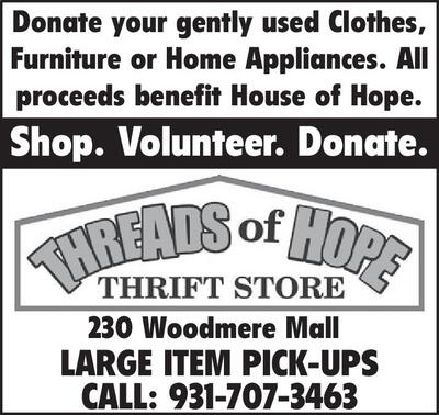Crossville Chronicle | Classifieds | Merchandise | A-1 DONATE YOUR