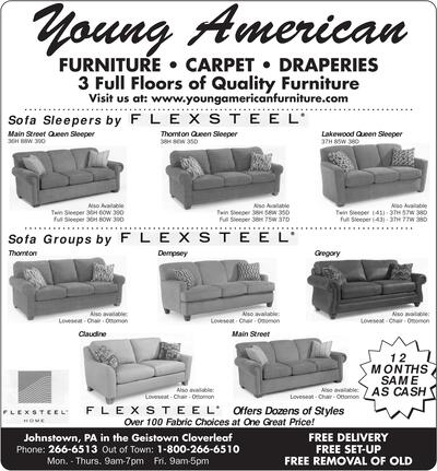 Young American Furniture Carpet Draperies 3 Full Floors Of Quality Visit Us At Www Younricanfurniture Sofa Sleepers Byflexsteel