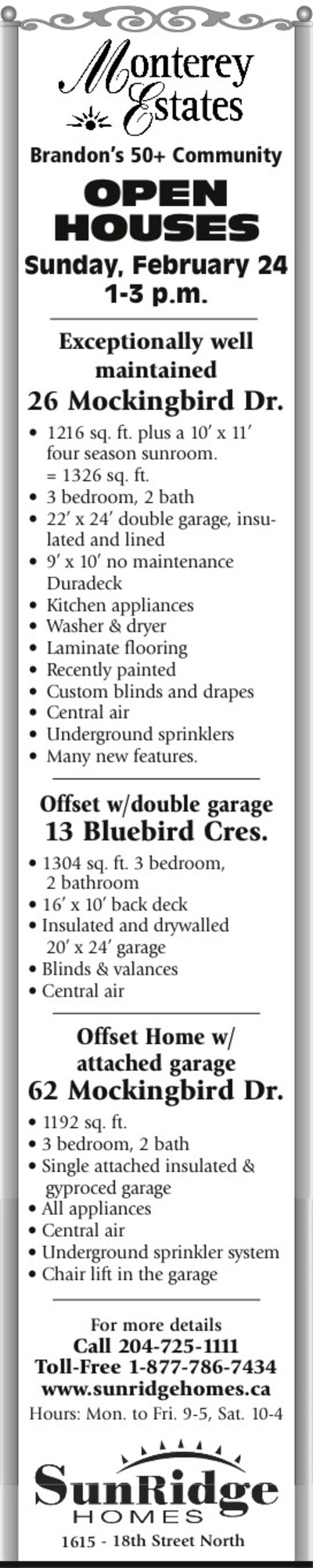 The Brandon Sun | Classifieds | Homes
