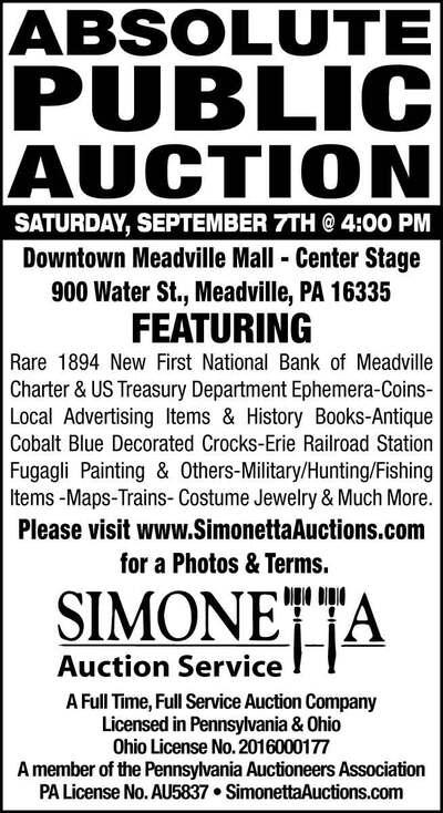 The Meadville Tribune   Classifieds   Announcements