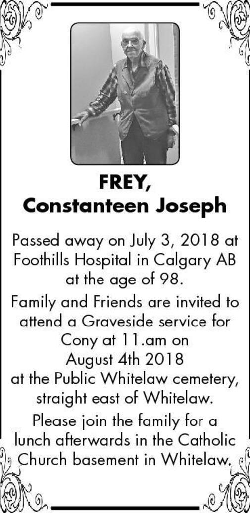 Constanteen Joseph  Frey