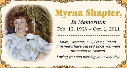 Myrna  Shapter