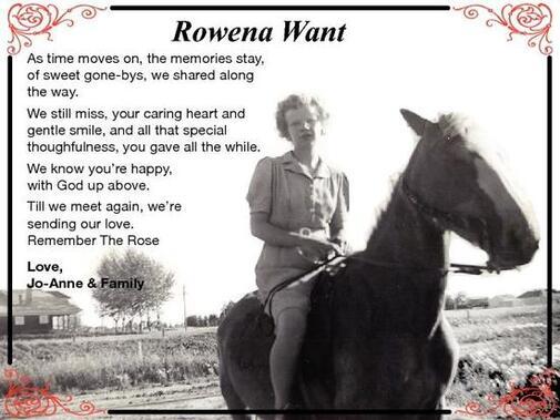Rowena  Want