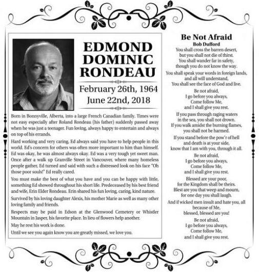 Edmond Dominic  RONDEAU