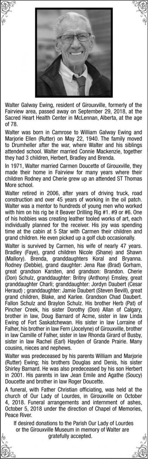 Walter  GALWAY EWING