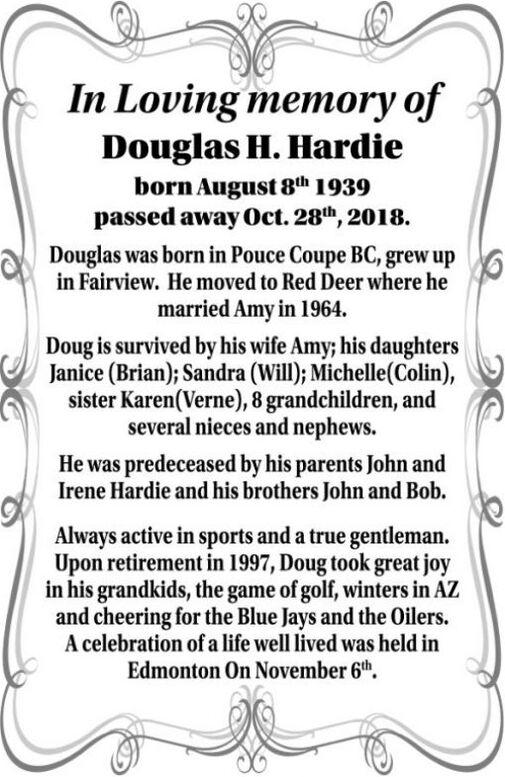Douglas H  HARDIE