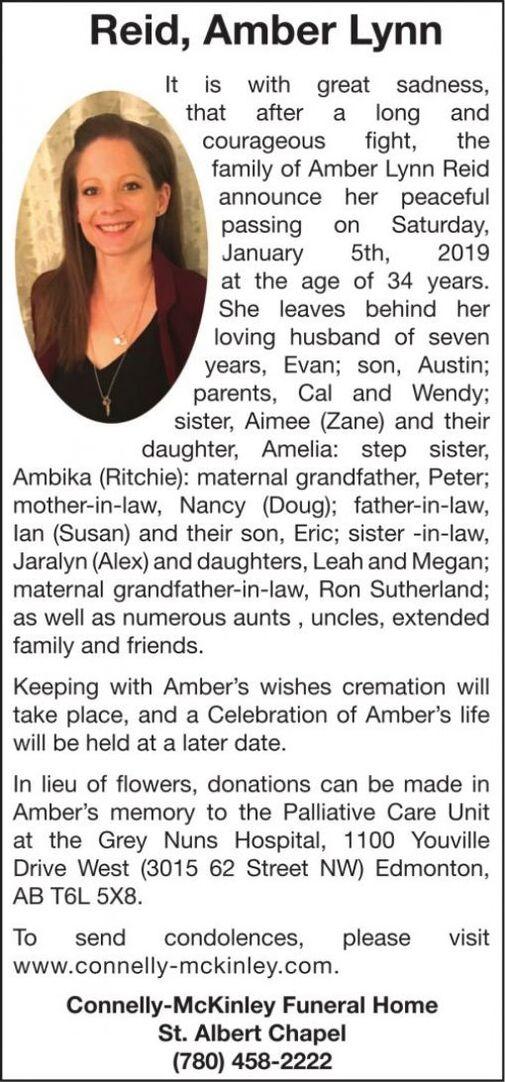 Amber Lynn  REID