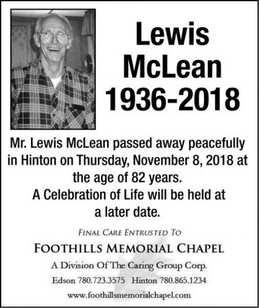 Lewis  McLEAN