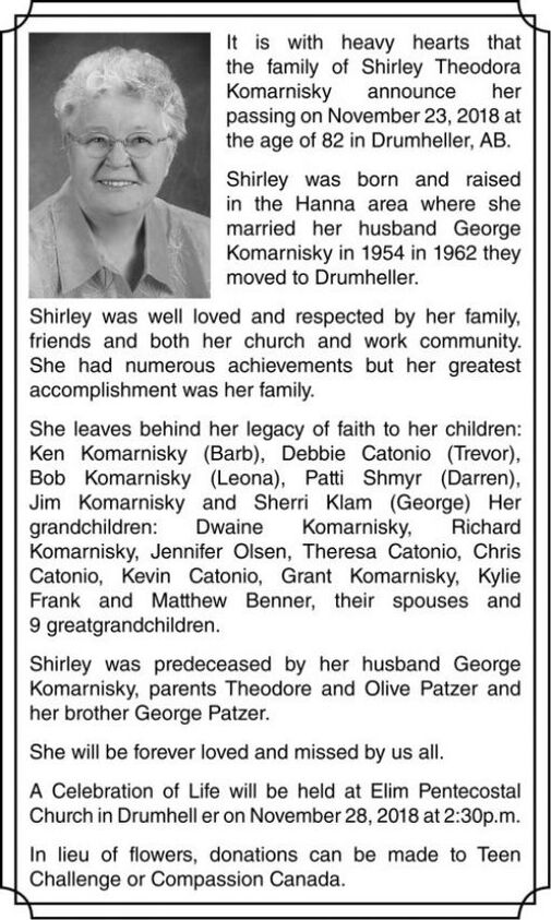 Shirley Theodora  KOMARNISKY