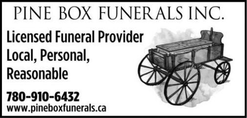 Personal  PINE BOX FUNER ALS INC.  Licensed Funeral Provider Local