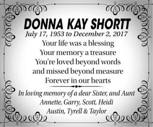 Donna Kay  SHORTT