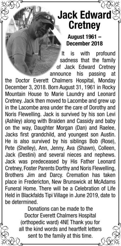 Jack Edward  CRETNEY