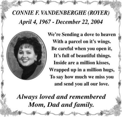 Connie F  VANDENBERGHE
