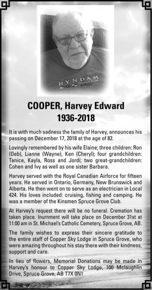 Harvey Edward  COOPER