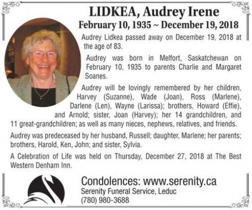 Audrey Irene  LIDKEA