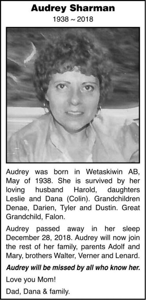 Audrey  SHARMAN
