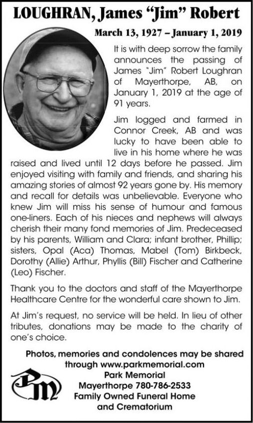 "James ""Jim"" Robert  LOUGHRAN"