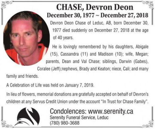 Devron Deon  CHASE