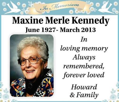 Maxine-Merle  In Memoriam Kennedy
