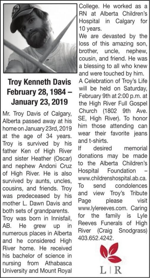 Troy Kenneth  DAVIS
