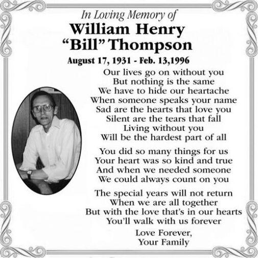 "William Henry ""Bill""  THOMPSON"