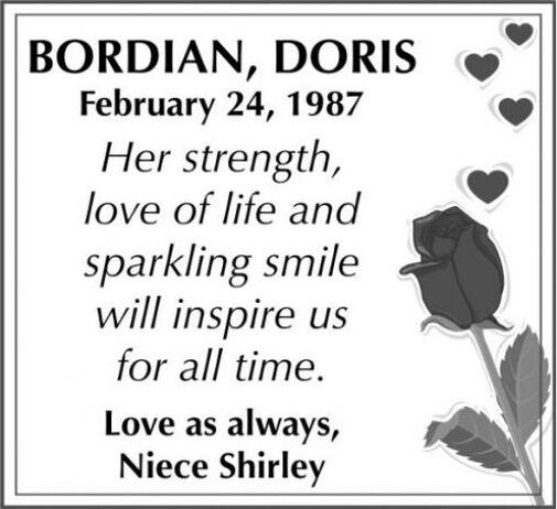 Doris  BORDIAN