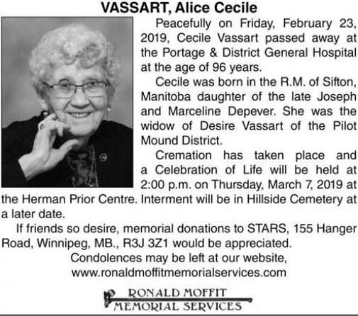 Alice Cecile  VASSART