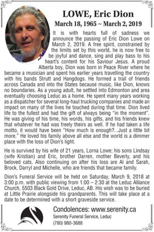 Eric Dion March  LOWE