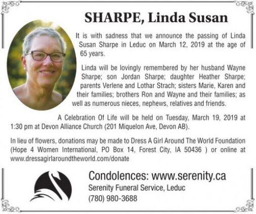 Linda Susan  SHARPE