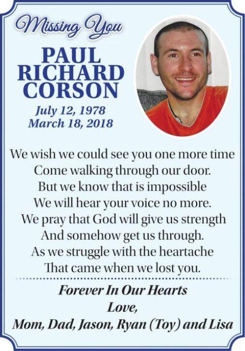 Paul Richard  CORSON
