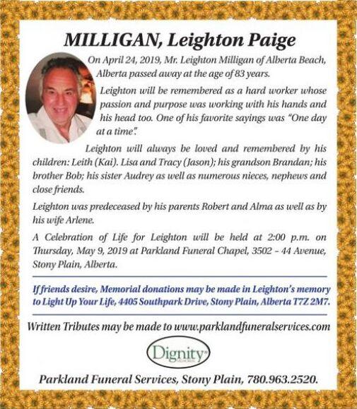 Leighton Paige  MILLIGAN