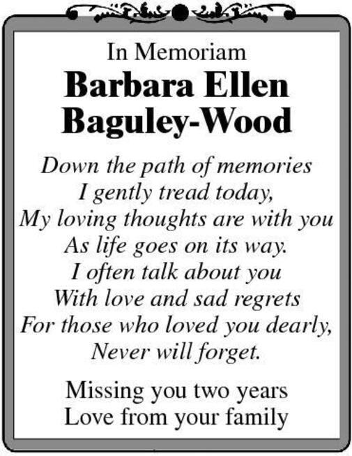 Barbara  Baguley-Wood