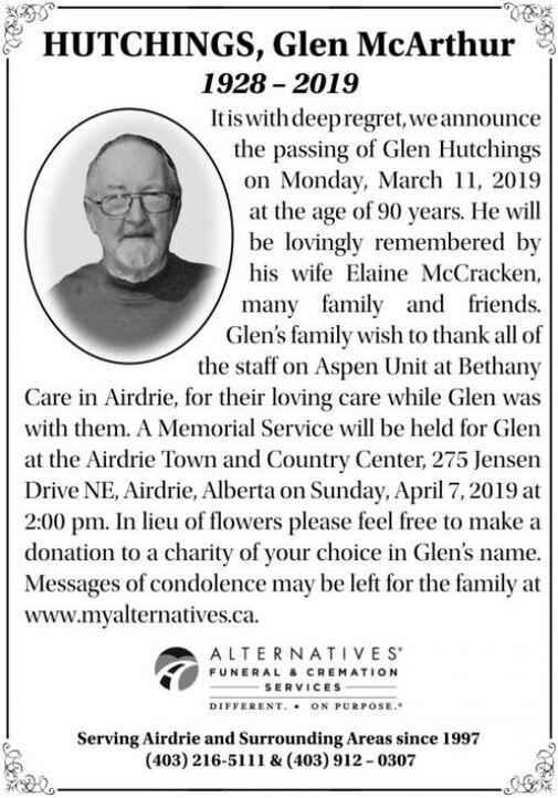 Glen McArthur  HUTCHINGS
