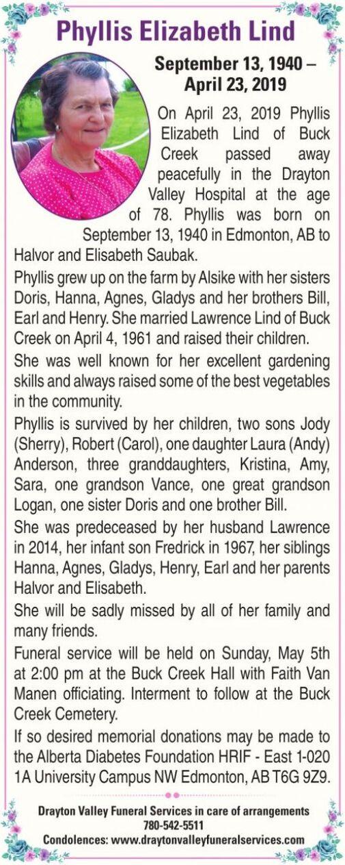 Elizabeth Lind  PHYLLIS