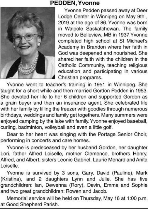 Yvonne  PEDDEN