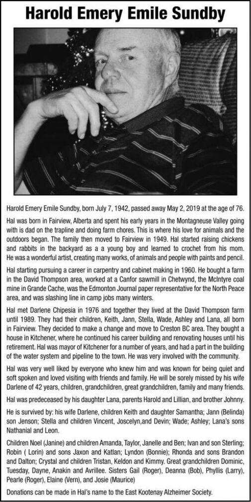 Harold Emery Emile  SUNDBY