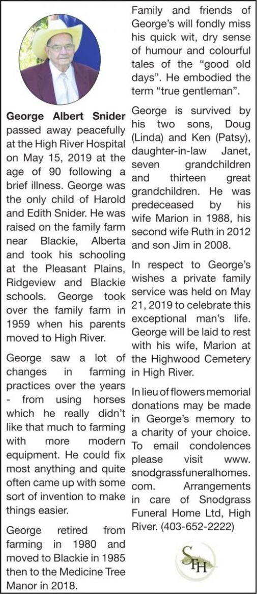 George Albert  SNIDER