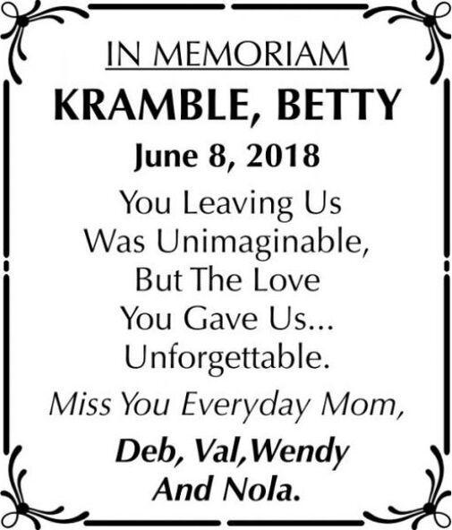 Betty  KRAMBLE