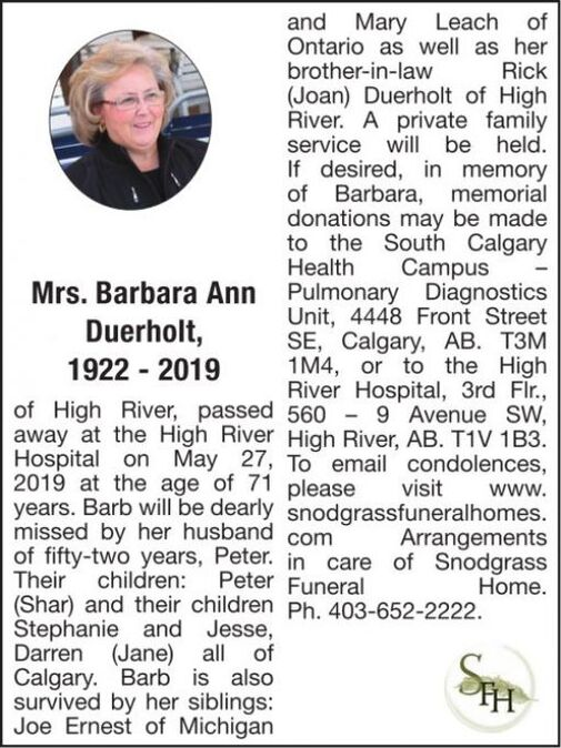Mrs. Barbara Ann  DUERHOLT