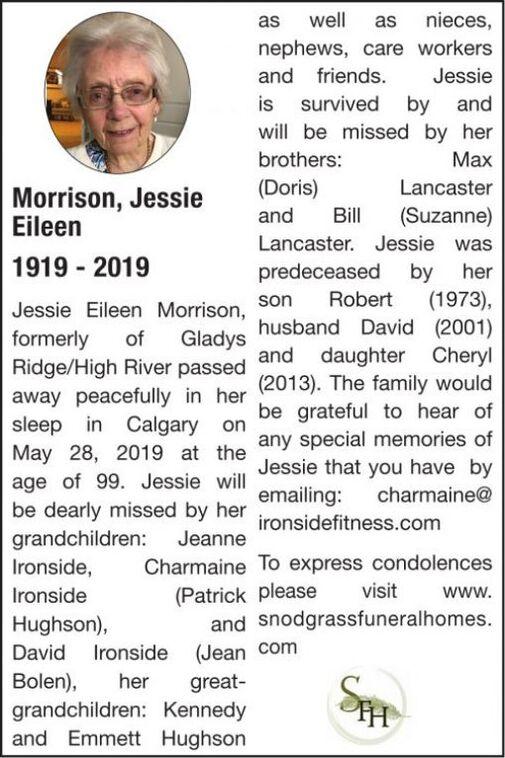 Jessie Eileen  MORRISON