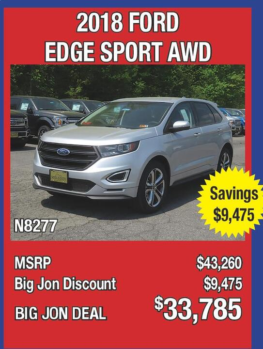 Ford Edge Sport Awd N Msrp  Big Jon Discount  Big Jon Deal  Big Jon Says The  Models Must Go Priced Tosell