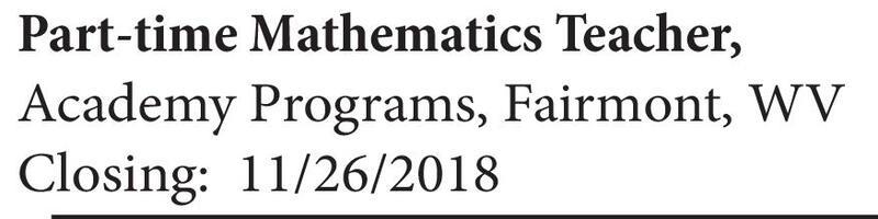 Bluefield Daily Telegraph Classifieds Employment Mathematics