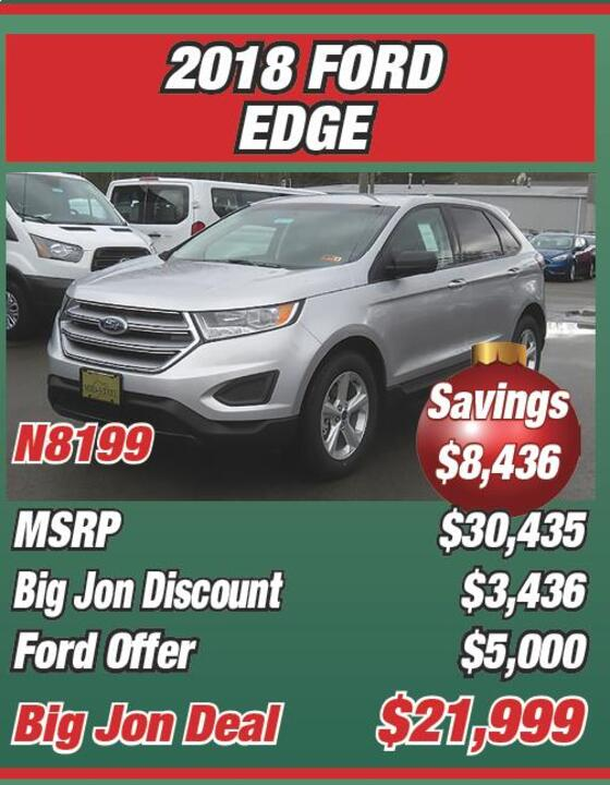 Ford Edge N Msrp  Big Jon Discount  Ford Offer  Big Jon Deal  Big Jons December To Remember