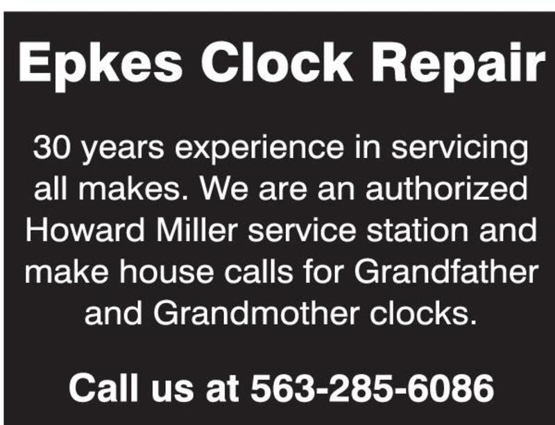 Clinton Herald | Classifieds | Services | Epkes Clock Repair
