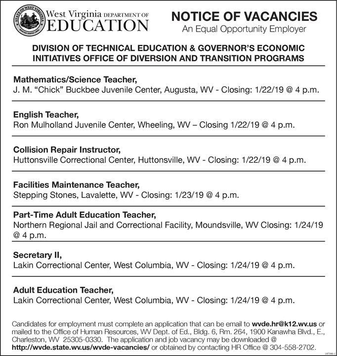 S Education Teaching Jobs Notice - Best Education 2019