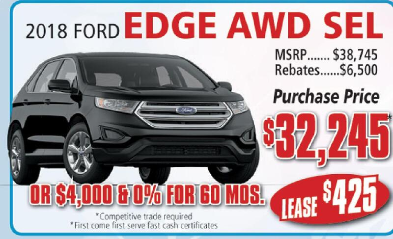 Ford Edge Awd Sel Msrp Rebates Purchase Price  Or   Mos Competitive Trade Required First Come First