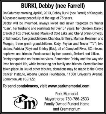 Debby  Burki