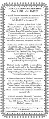 Thelma  Gunderson