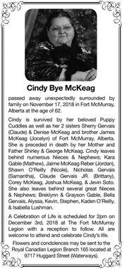 Cindy Bye  McKEAG
