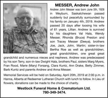Andrew John  MESSER